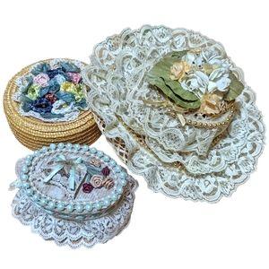 3 cute vintage lace accents